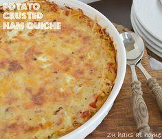 Paula Deen's Potato Crusted Ham Quiche