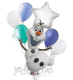 11pc Disney Frozen Snowman Olaf Birthday Balloon Bouquet Party Decor Princess