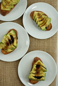 Avocado Crostini with Reduced Balsamic and Hickory Smoked Sea Salt from @Lisa | Authentic Suburban Gourmet