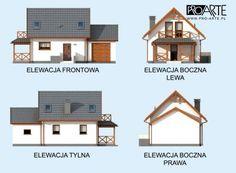 Projekt ORLEAN 5 dom letniskowy z poddaszem :: PRO-ARTE.pl Home Fashion, Mansions, House Styles, Home Decor, House 2, Decoration Home, Manor Houses, Room Decor, Villas