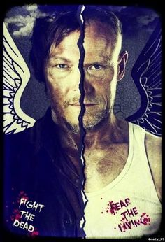 Daryl & Merle Dixon ...The Walking Dead... I cannot believe we have to wait until February for this!!!! Wtf!!!? Don't you dare hurt Daryl!!!!