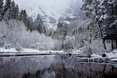 Wintry Cathedral Beach, Yosemite National Park