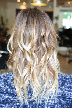 Maybe its time to lighten the locks. Light blonde ombré