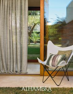 AZORES/ Mesh creating lines with woven ligaments. A texture which brings elegance to any scheme or decoration style. Butterfly Chair, Curtain Fabric, House Design, Traditional, Interior Design, Elegant, Azores, Furniture, Collection