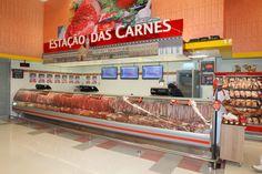 Design e Projeto de loja | Comunicação Visual | Bandô Carnes | Detalhe: estação de trem Savegnago - São Carlos-SP