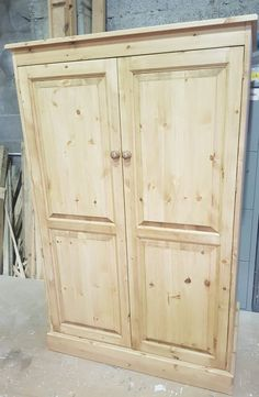 RIdgeway Craft Cupboard.  Storage solutions Exmoor Furniture. Craft Cupboard, Cupboard Storage, Bespoke Furniture, Small Tables, Wood Projects, Craft Supplies, Arts And Crafts, Shelves, Craft Art