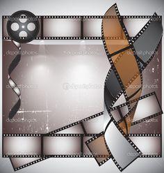 Rouleau de pellicule photographique fond vecteur — Image ...