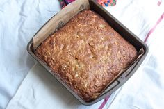 In the oven now! Substituted sm amount coconut oil instead of shredded coconut and added baby choco chips :)  morning glory muffin bread from big girls small kitchen
