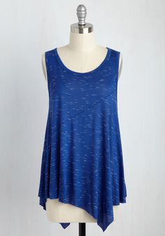 From Hem to Stern Tunic. This royal blue tank top covers all the bases. #blue #modcloth