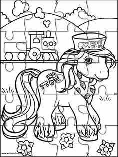 Printable Jigsaw Puzzles To Cut Out For Kids My Little Pony 2 Coloring Pages