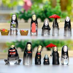 Free Shipping 13pcs Spirited Away  faceless man coin umbrella  figurine toy