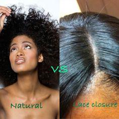 Natural Hair VS Lace Closure - L.A Hairstylist #hair #hairidea #naturalhair #weaves #extension #la #lahair #losangeleshairstylist #laceclosure