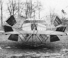 "The 1875 ""Aerial Steamer"" was a tandem-wing monoplane by Thomas Moy. It was unmanned and travelled in a wide circle, tethered to central post. During one demonstration, its 3-hp engine lifted the 120-lb. craft 6 inches off the ground."