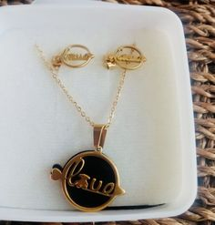 Gold Necklace, Pendant Necklace, Jewelry, Stainless Steel, Gold Pendant Necklace, Jewlery, Jewerly, Schmuck, Jewels