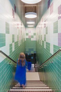 Illiz Architektur suspends children's swimming pool above former bunker Zurich