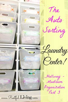 The Auto Sorting Laundry Center!