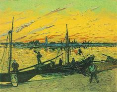Friends of Vincent (@VanGoghADay) | Twitter Coal Barges August, 1888 Oil on canvas Annapolis, Maryland, Collection Carleton Mitchell