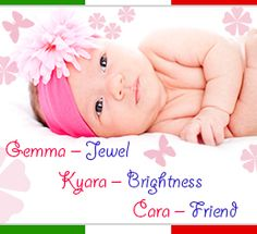 Italian names for a baby girl