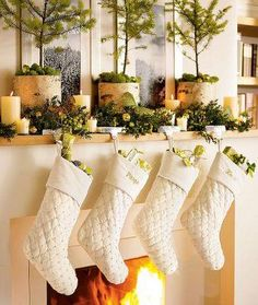the stockings where hung by the chimney with care, in the hopes that St. Nickolas would soon be there <3