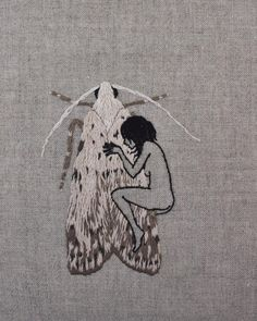 Embroidery Art By Adipocere. Adipocere is the nick name of Australian artist John Continue Reading and for more Embroidery art → View Website Hand Embroidery Patterns, Diy Embroidery, Cross Stitch Embroidery, Tag Art, Papillon Butterfly, Contemporary Embroidery, 3d Studio, Arte Horror, Art Graphique