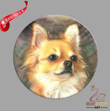 HAND PAINTED DOG SHELL JEWELRY NECKLACE PENDANT ZP30 01242
