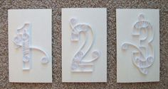 What are you doing for table numbers? : wedding table numbers