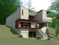 A House on a Slope on Behance