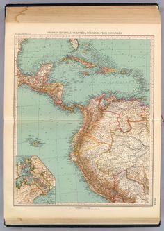 153-54. America Centrale, Colombia, Ecuador, Peru, Venezuela. - David Rumsey Historical Map Collection