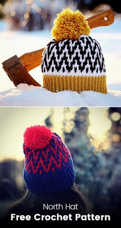 North Hat Free Crochet Pattern #crochet #crafts #homemade #handmade #hat