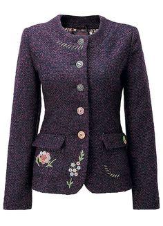 Elegant Embroidered Jacket by Joe Browns