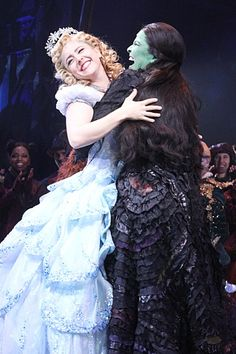 Lindsay Mendez as Elphaba, Alli Mauzey as Glinda in the Anniversary of Wicked Musical. Broadway Wicked, Wicked Musical, Musical Theatre Broadway, Broadway Plays, Broadway Shows, Elphaba And Glinda, The Witches Of Oz, Theatre Nerds, Theater