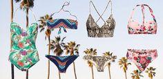 Bikinis mit Prints: Blumen, Ethno oder Foto-Drucke