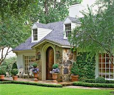 adorable entryway.  curb appeal / house exterior / cottage