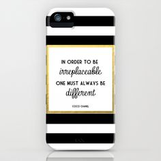 Coco Gold Fashion Quote iPhone & iPod Case by Poppy Loves To Groove - $35.00