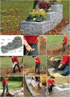 Gorgeous Outdoor DIY: How to Build a Stone Planter...