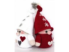Karácsonyi manó Christmas Mood, Christmas Gifts, Christmas Decorations, Christmas Ornaments, Holiday Decor, Crochet Toys, Knit Crochet, Advent, Winter Hats