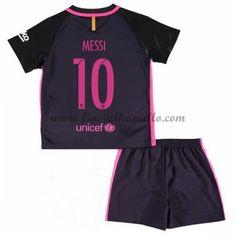 Barcelona Lasten Jalkapallo Pelipaidat 2016-17 Messi 10 Vieraspaita Messi 10, Lionel Messi, Neymar Jr, Messi Shirt, Barcelona 2016, Junior Shirts, Kobe, Adidas Jacket, Swimwear