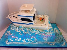 Fishing Boat cake on the Rough Seas