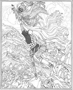 イワン・ビリービン Ivan Bilibin Иван Билибин_illustration-for-the-poem-ruslan-and-lyudmila-02  ルスランとリュドミラ