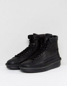 Clarks Originals Oswyn Hi Top Wedge Sneakers - Black Black Wedge Sneakers 7d1c2c460c3