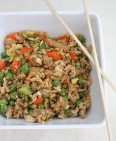 Clean Eating Fried Rice - can't even tell you how delicious this is! add some chicken or shrimp and you're good to go.