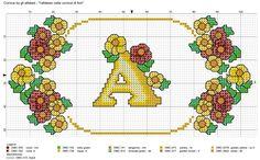 alfabeto nella cornice di fiori - cornice