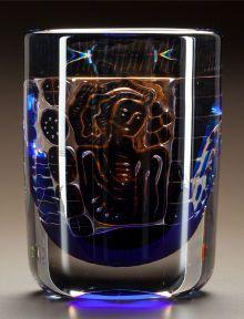 Art Glass:Other , EDVIN OHRSTROM FOR ORREFORS GLASS ARIEL VASE. Circa 1960. EngravedOrrefors 9057813, Edvin Ohrstrom, Gallery-82, Ariel. ...