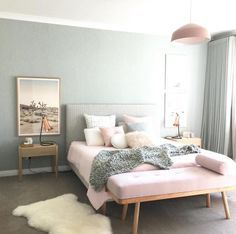 Pink and grey room decor grey and pink bedroom decor full size of bedroom for pink . pink and grey room decor Pink Bedroom Design, Pastel Bedroom, Modern Bedroom Decor, Bedroom Green, Home Bedroom, Bedroom Ideas, Girls Bedroom, Bedroom Designs, Sofa In Bedroom
