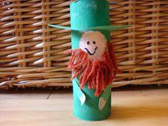 Preschool Crafts for Kids*: St. Patrick's Day Leprechaun Toilet Roll Craft