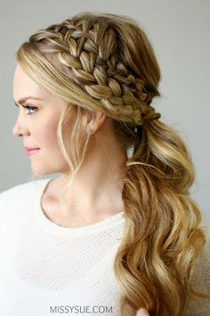 Doubled braided ponytail