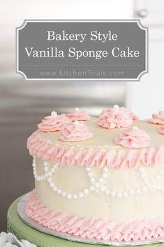 Bakery style vanilla sponge cake pin