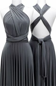 two birds charcoal ball gown