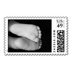 Cute Baby Feet Postage Stamps