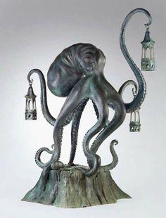 Scott Musgrove Walktopus lantern sculpture